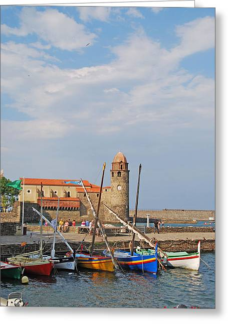 Colorful Harbour Greeting Card