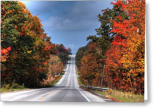 Colorful Highway  Greeting Card by Richard Gregurich