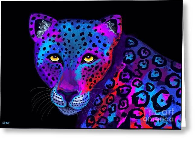 Colorful Jaguar Greeting Card