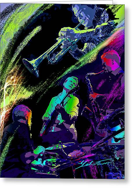 Colorful Jazz Greeting Card
