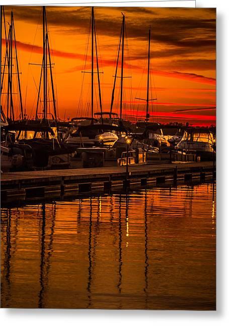 Colorful Lake Norman Sunset Greeting Card