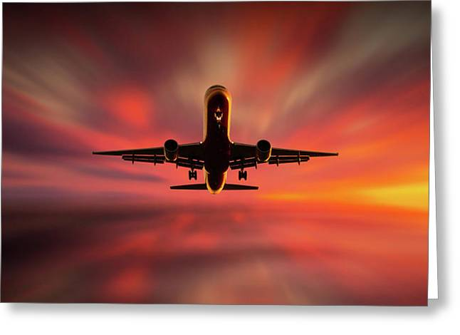 Colorful Landing. Greeting Card by Leif L?ndal
