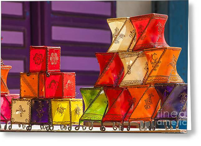 Colorful Lanterns Greeting Card by Patricia Hofmeester