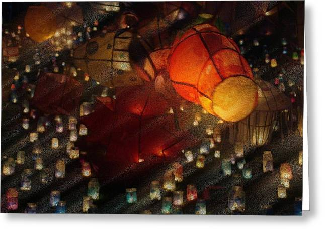 Colorful Lanterns Greeting Card