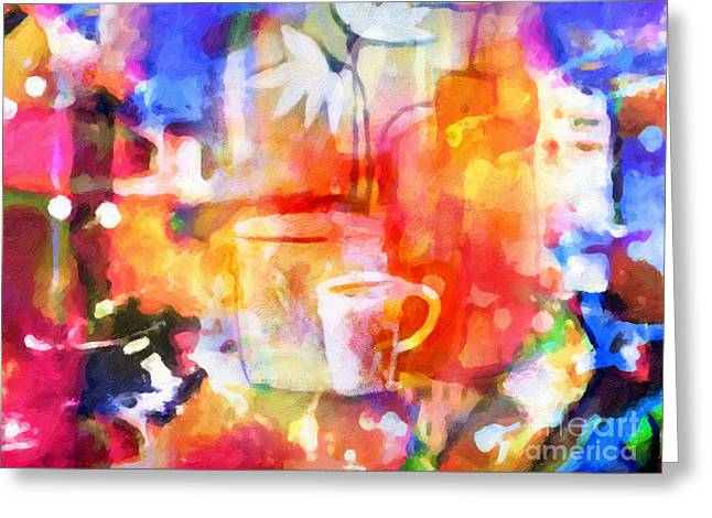 Colorful Life Greeting Card by Lutz Baar