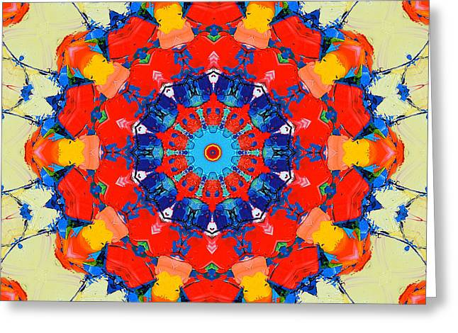Colorful Mandala Greeting Card by Ana Maria Edulescu