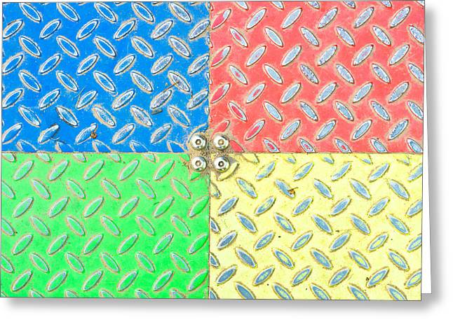 Colorful Metal Greeting Card by Tom Gowanlock