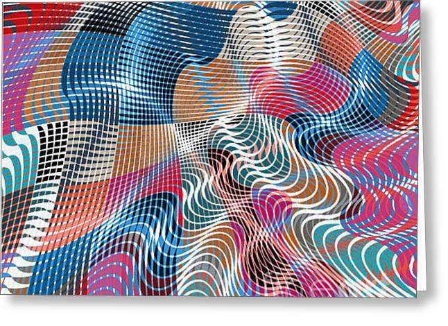 Colorful Modern Abstract Stained Greeting Card
