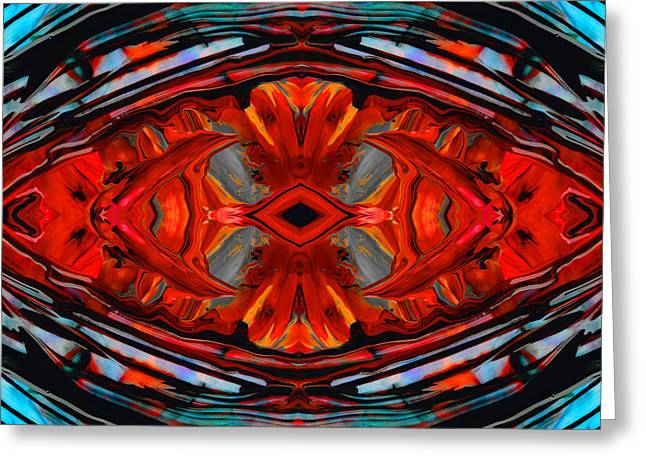 Colorful Modern Art - Desire's Call - By Sharon Cummings Greeting Card by Sharon Cummings