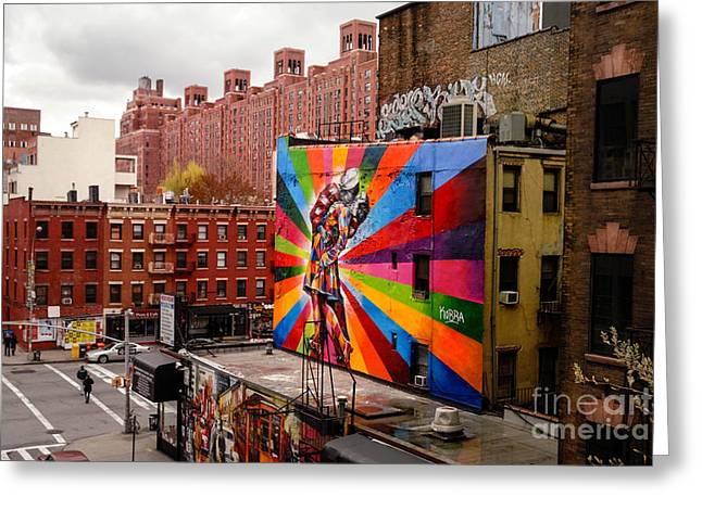 Colorful Mural Chelsea New York City Greeting Card by Amy Cicconi
