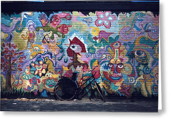 Colorful Mural Greeting Card by Mark Goebel