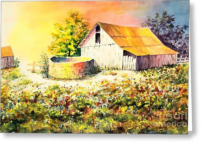 Colorful Old Barn Greeting Card
