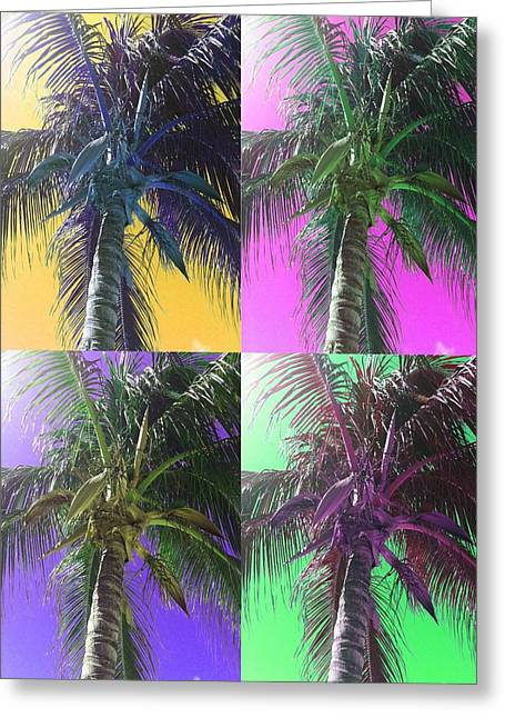 Colorful Palm Trees Photograph Greeting Card by Michelle Eshleman