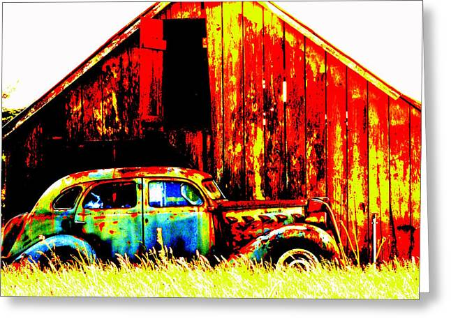 Colorful Past Greeting Card by Mamie Gunning