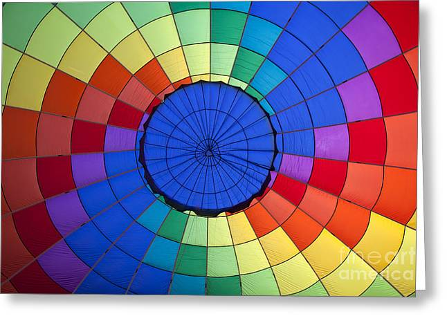 Colorful Pattern Inside A Hot Air Balloon Greeting Card