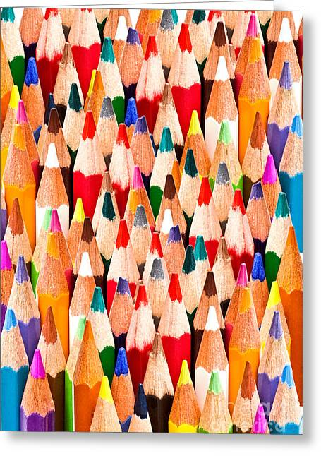 Colorful Pencils Greeting Card by IB Photo