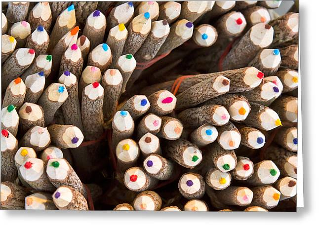 Colorful Pencils Greeting Card by Tom Gowanlock