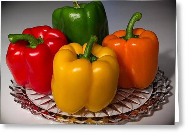 Colorful Platter Greeting Card by Shane Bechler