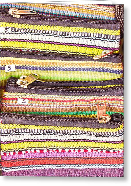 Colorful Purses Greeting Card