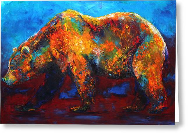 Colorful Reflections Bear Painting Greeting Card