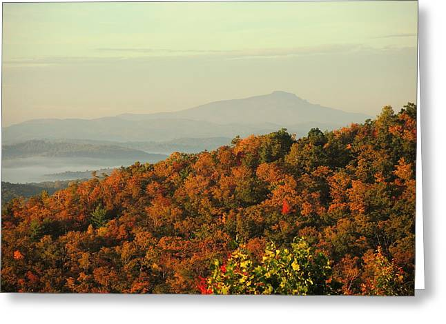 Colorful Ridge Greeting Card by Michael Gooch