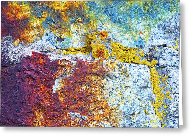 Colorful Rock 5973 Greeting Card by Bob Hills