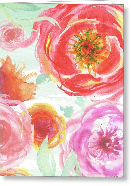 Colorful Roses I Greeting Card