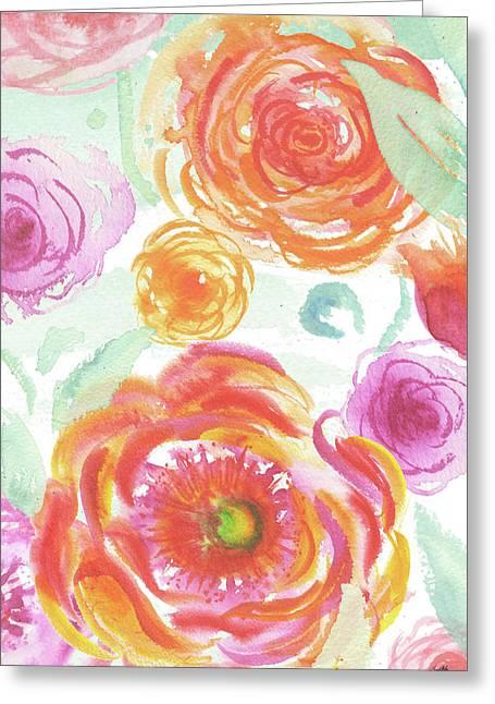 Colorful Roses II Greeting Card