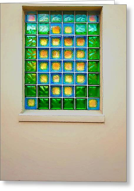 Colorful Savannah Window Greeting Card