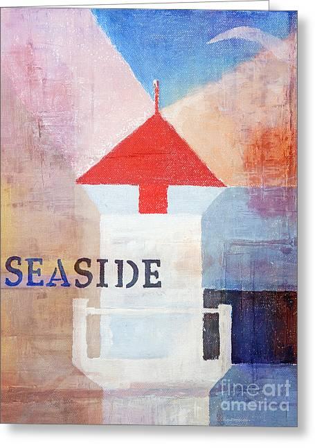 Colorful Seaside Greeting Card by Lutz Baar