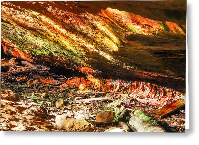 Colorful Shades Of Light And Texture  Greeting Card by Optical Playground By MP Ray