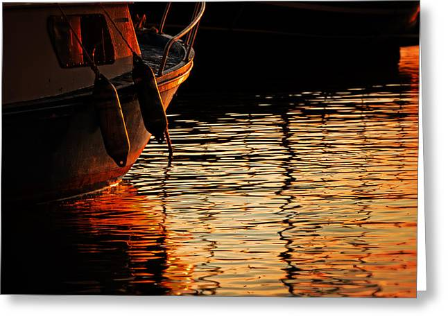 Colorful Shadows Greeting Card by Alex Stoen