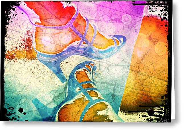 Colorful Shoes Greeting Card by Absinthe Art By Michelle LeAnn Scott