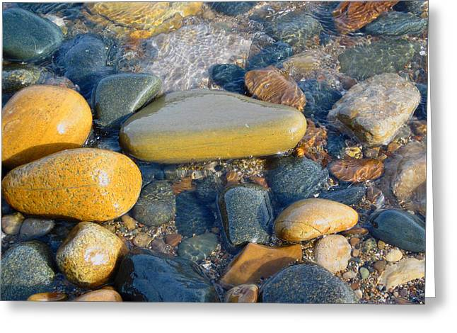 Colorful Shore Rocks Greeting Card