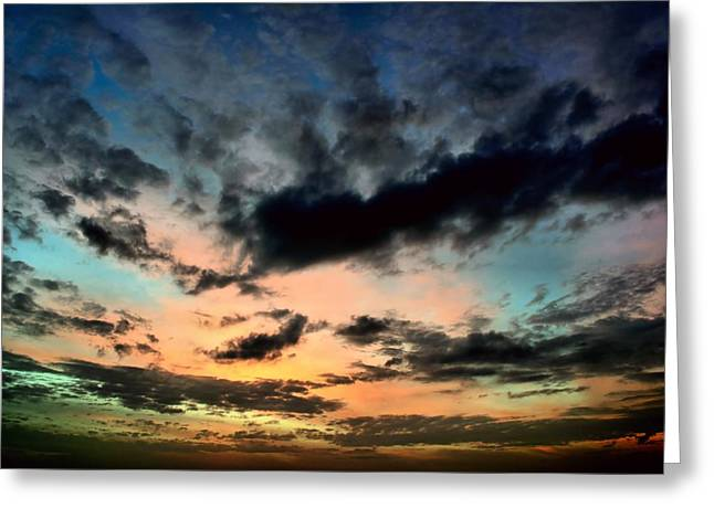 Colorful Sky. Greeting Card