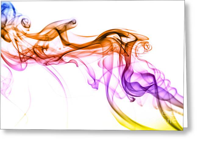 Colorful Smoke Abstract Greeting Card