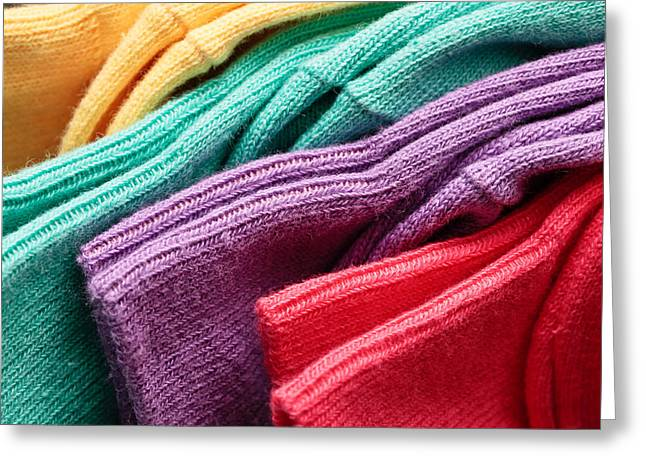 Colorful Socks Greeting Card