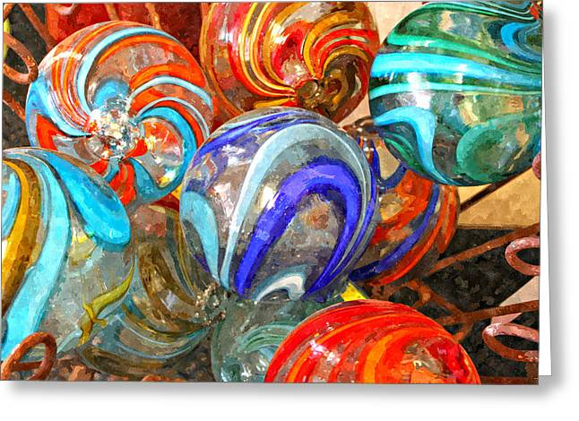 Colorful Spheres Greeting Card