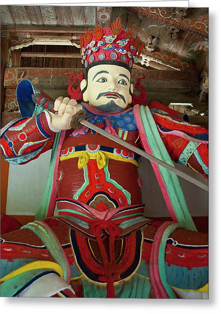 Colorful Statue At The Buddhist Greeting Card