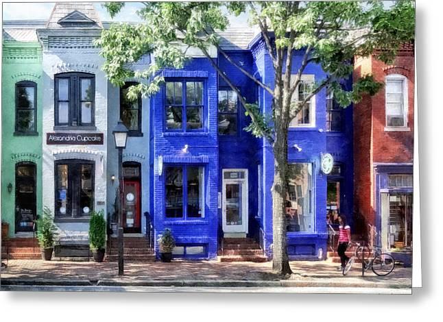 Alexandria Va - Colorful Street Greeting Card