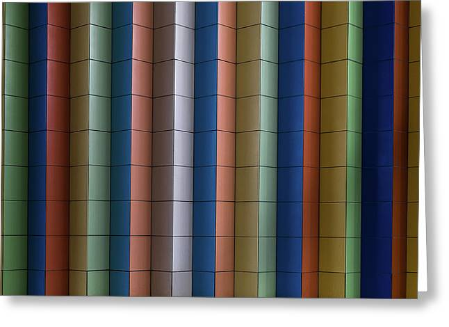 Colorful Stripes Greeting Card