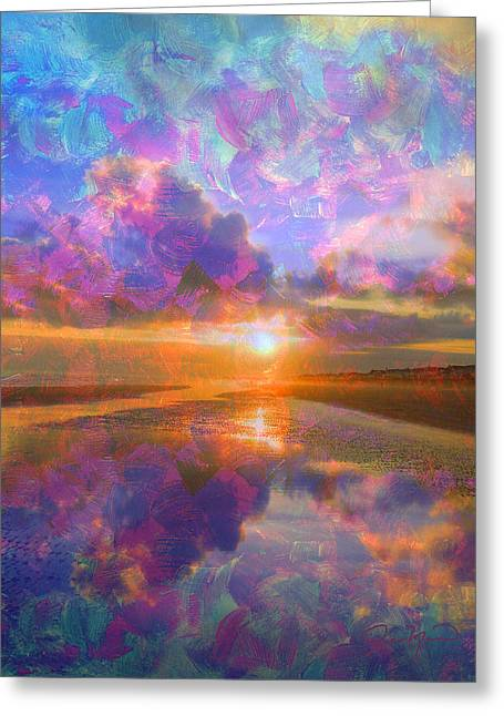 Colorful Sunset By Jan Marvin Greeting Card