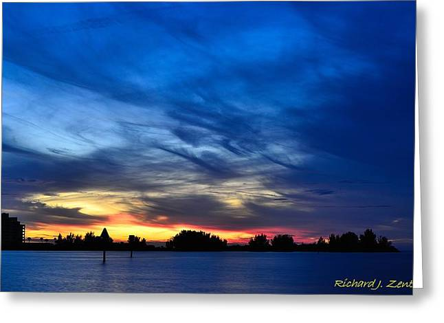 Greeting Card featuring the photograph Colorful Sunset by Richard Zentner