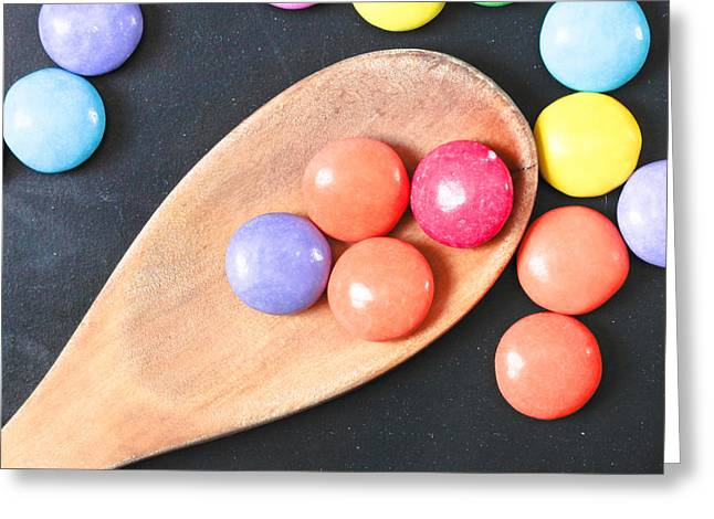 Colorful Sweets Greeting Card by Tom Gowanlock