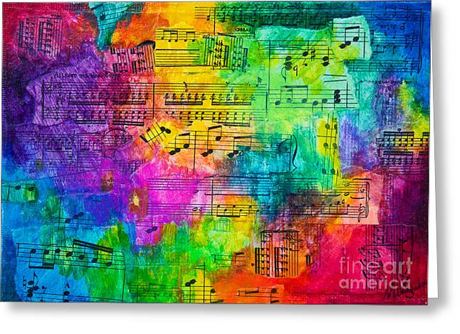 Colorful Symphony Greeting Card