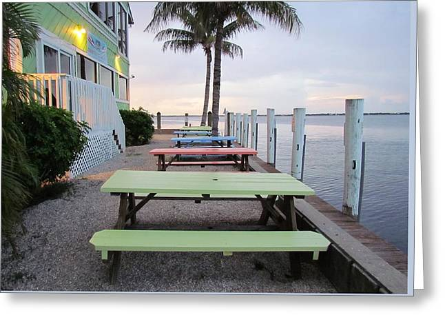 Greeting Card featuring the photograph Colorful Tables by Cynthia Guinn
