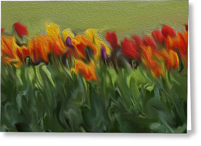 Colorful Tulips Greeting Card by Art Spectrum