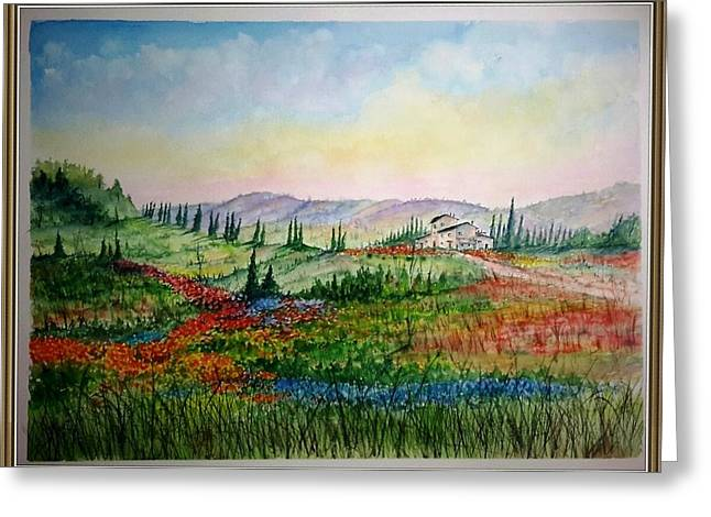 Colorful Tuscany Greeting Card