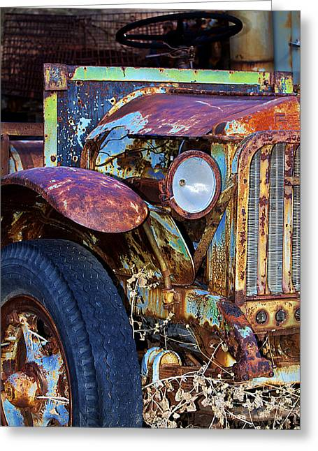 Colorful Vintage Car Greeting Card