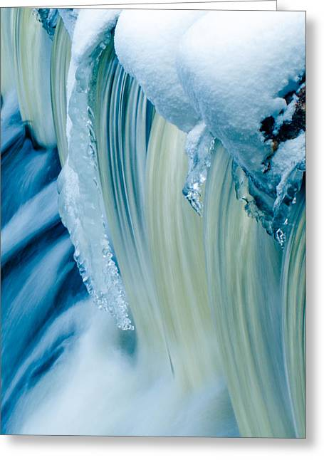 Colorful Waterfall Greeting Card